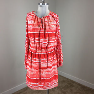 Michael kors m 10 Coral Red Blouson dress